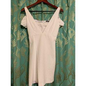 Off the shoulder white dress